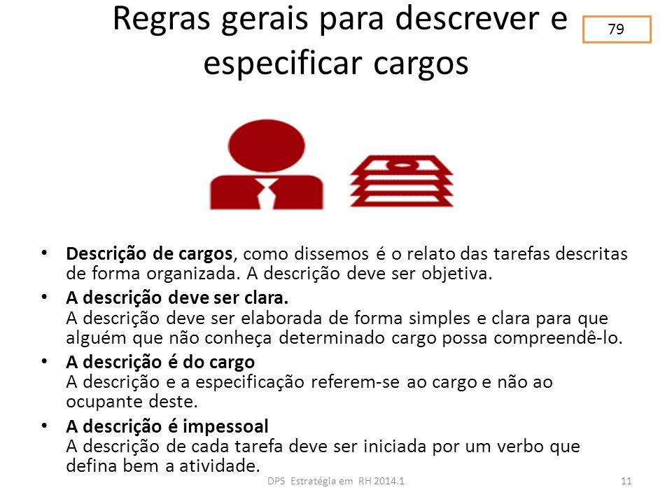 Regras gerais para descrever e especificar cargos