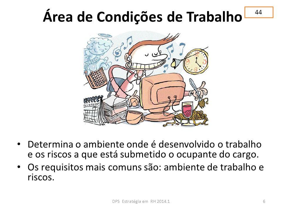 Área de Condições de Trabalho