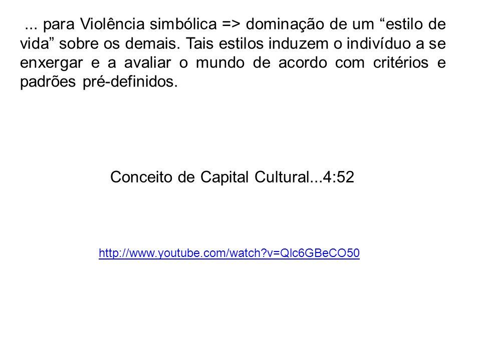Conceito de Capital Cultural...4:52