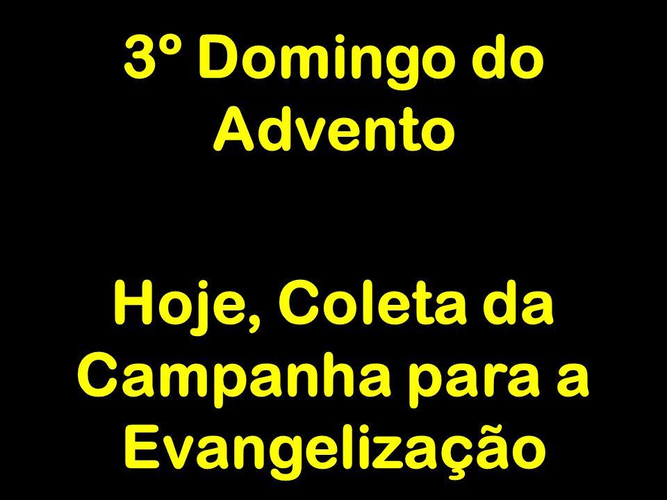 3º Domingo do Advento Hoje, Coleta da Campanha para a Evangelização