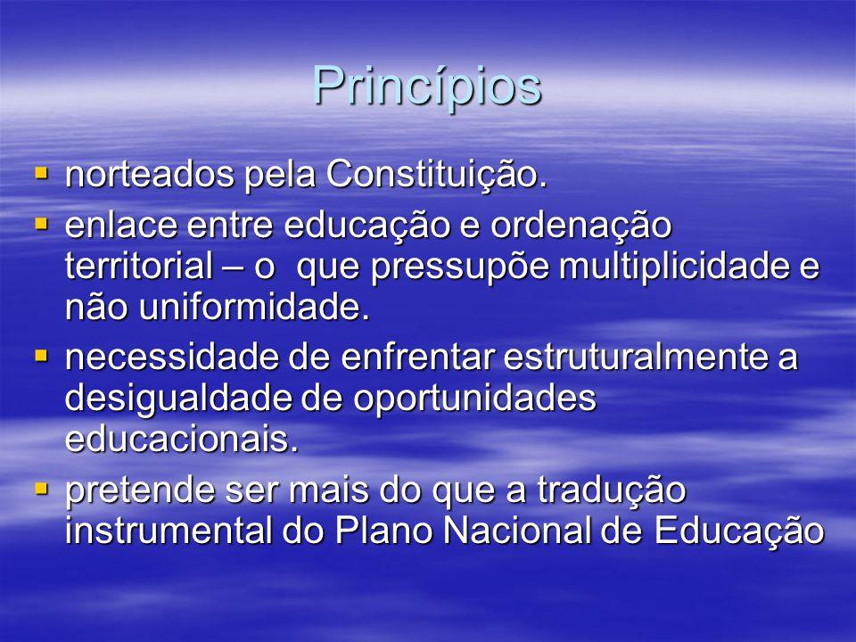 Princípios norteados pela Constituição.
