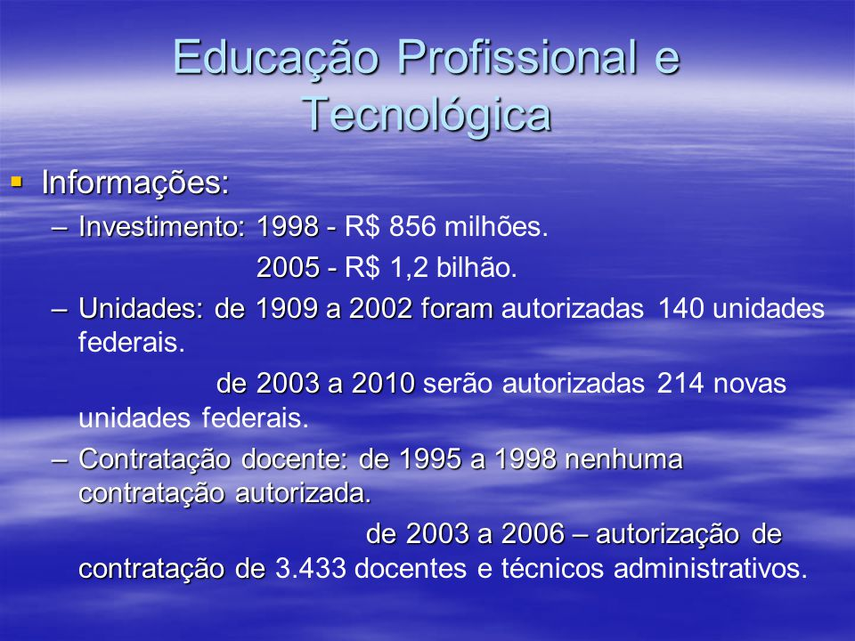 Educação Profissional e Tecnológica