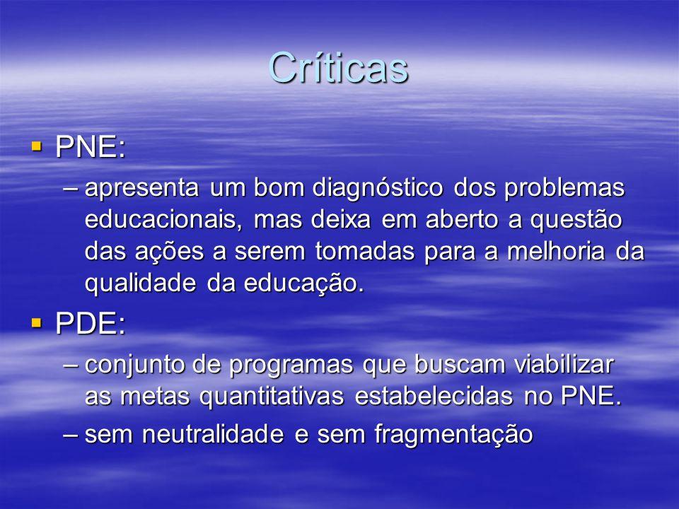 Críticas PNE: