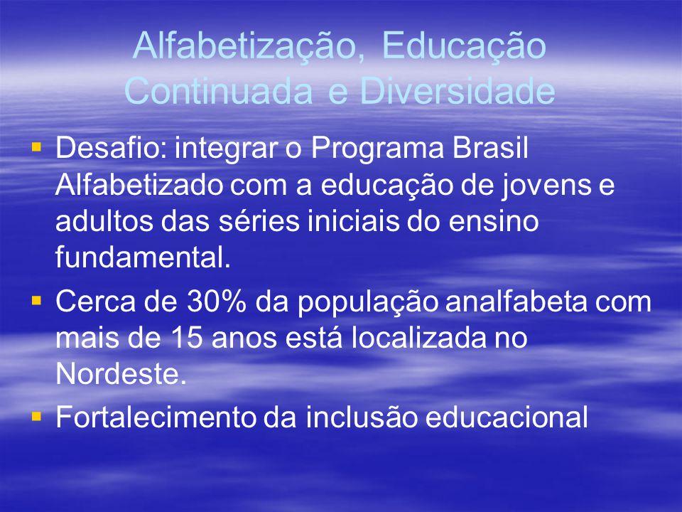 Alfabetização, Educação Continuada e Diversidade