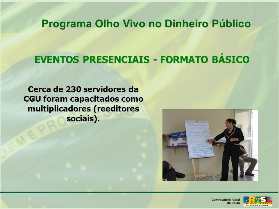 EVENTOS PRESENCIAIS - FORMATO BÁSICO