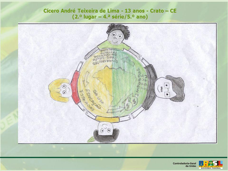 Cícero André Teixeira de Lima - 13 anos - Crato – CE