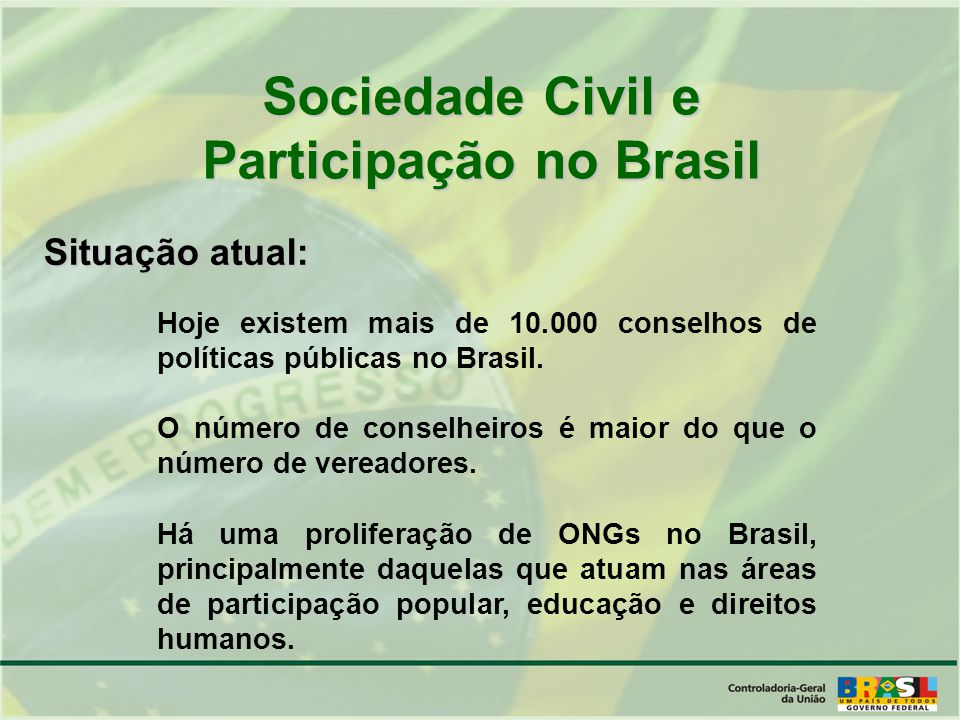 Participação no Brasil