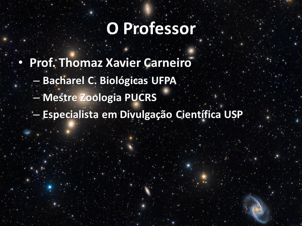 O Professor Prof. Thomaz Xavier Carneiro Bacharel C. Biológicas UFPA