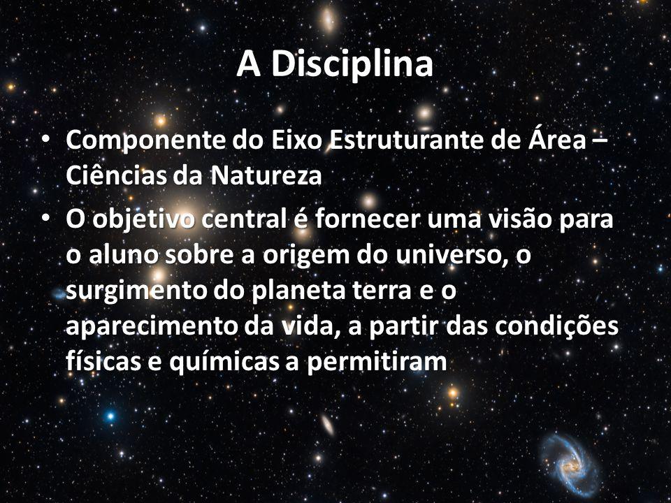 A Disciplina Componente do Eixo Estruturante de Área – Ciências da Natureza.