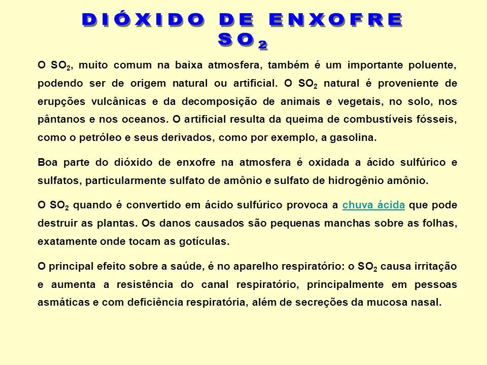 DIÓXIDO DE ENXOFRE SO2.