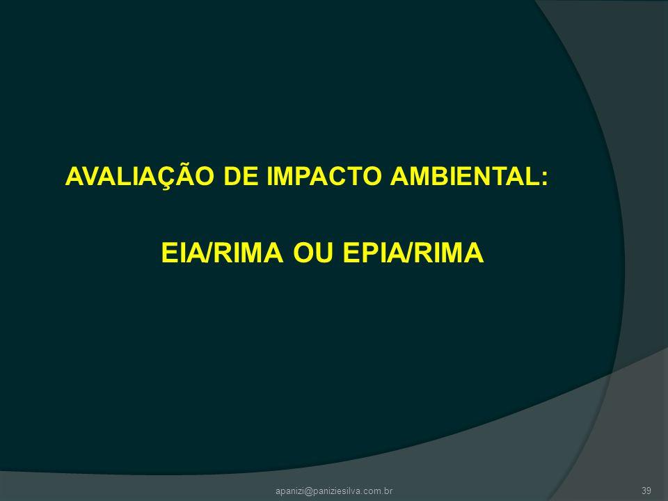 AVALIAÇÃO DE IMPACTO AMBIENTAL: