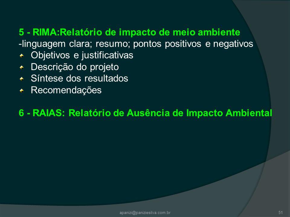 5 - RIMA:Relatório de impacto de meio ambiente