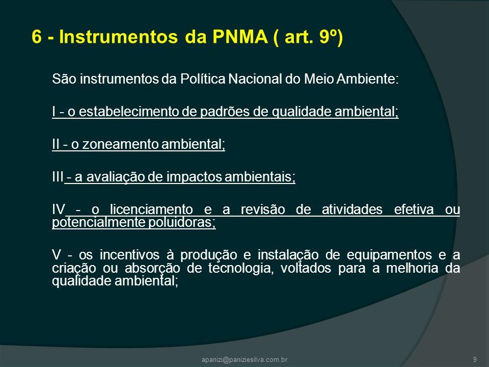 6 - Instrumentos da PNMA ( art. 9º)