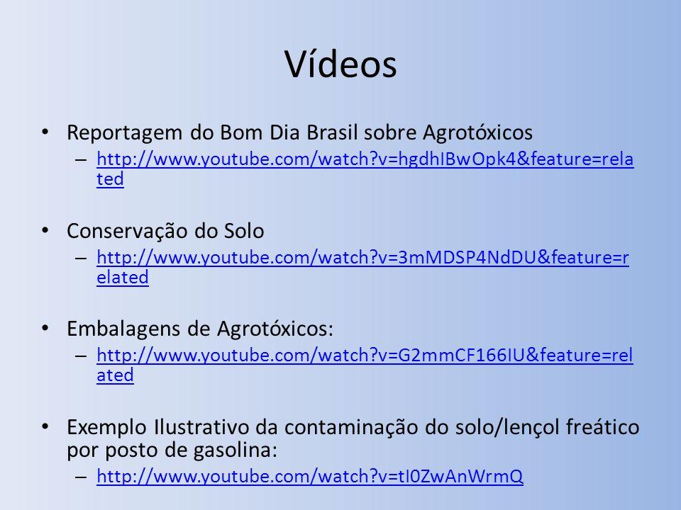 Vídeos Reportagem do Bom Dia Brasil sobre Agrotóxicos