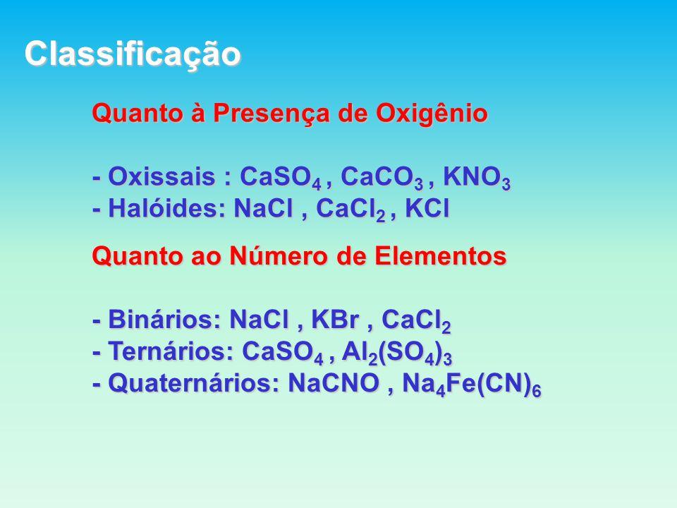 Classificação Quanto à Presença de Oxigênio