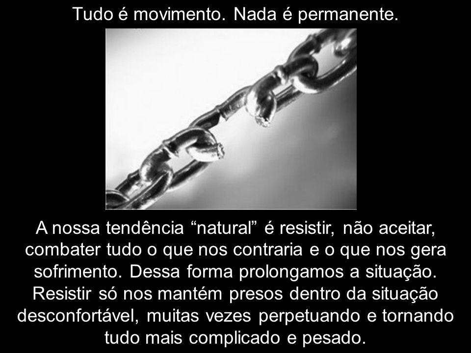 Tudo é movimento. Nada é permanente.
