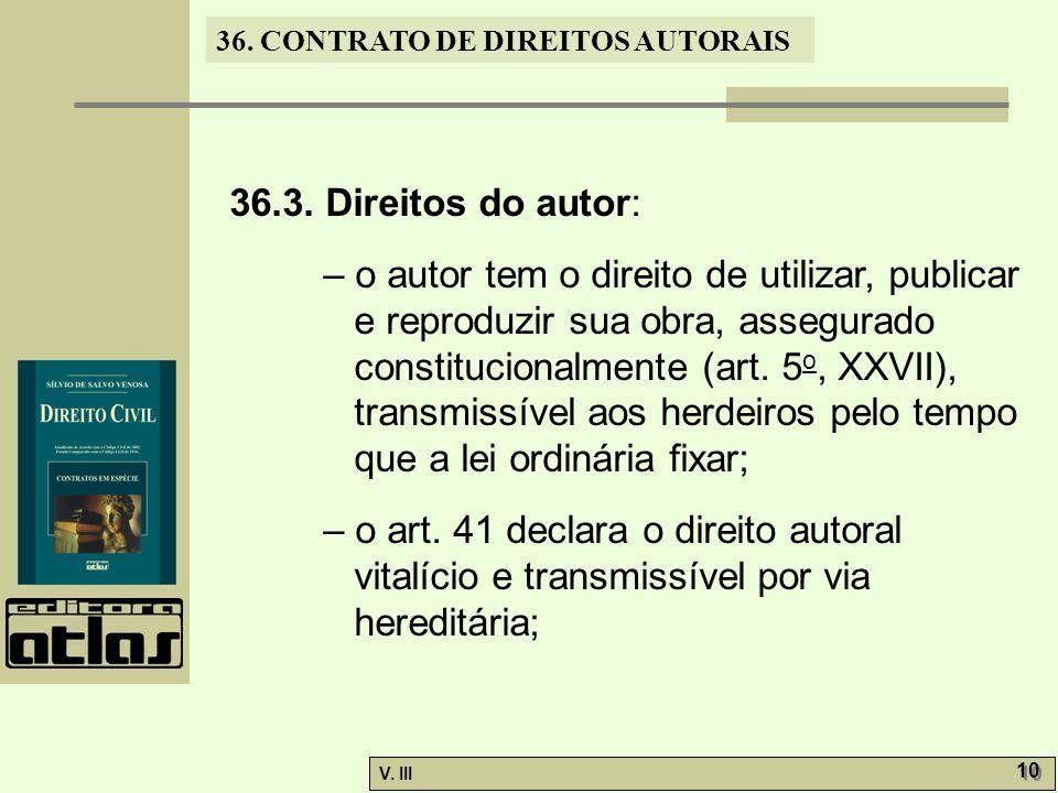 36.3. Direitos do autor:
