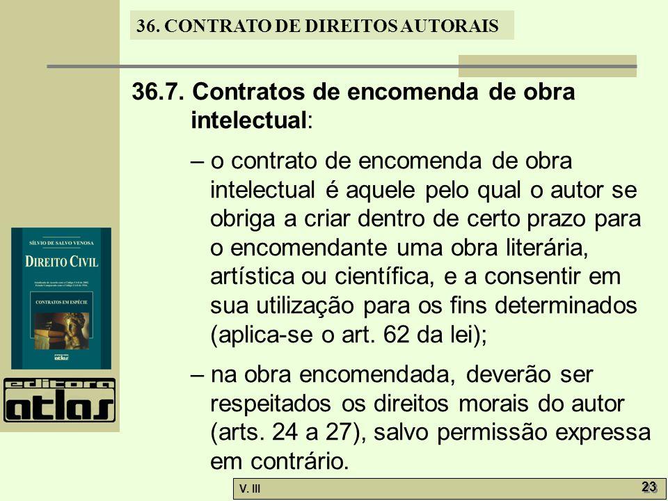 36.7. Contratos de encomenda de obra intelectual: