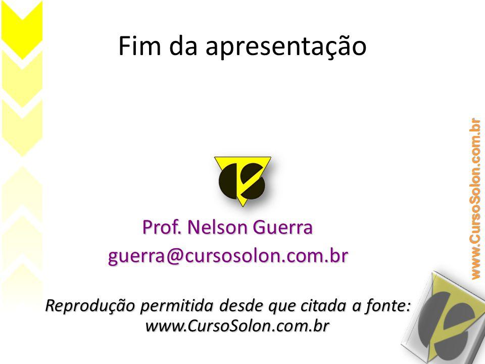 Reprodução permitida desde que citada a fonte: www.CursoSolon.com.br
