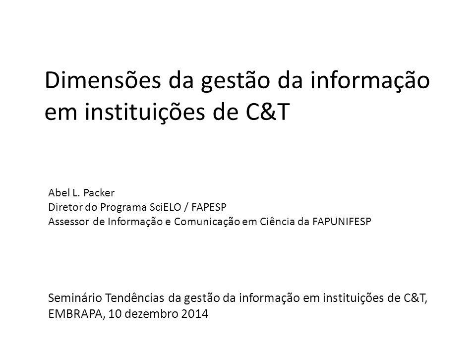 Dimensões da gestão da informação em instituições de C&T