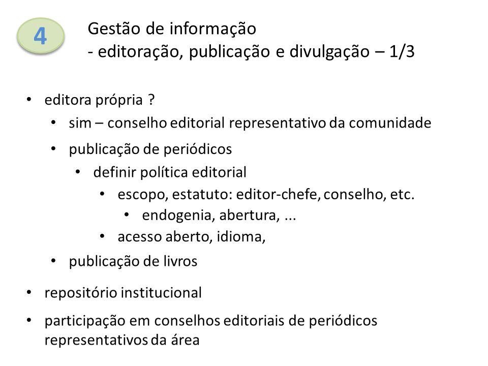 4 Gestão de informação - editoração, publicação e divulgação – 1/3