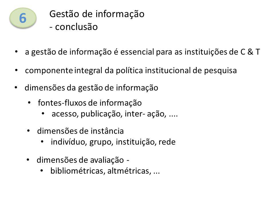 6 Gestão de informação - conclusão