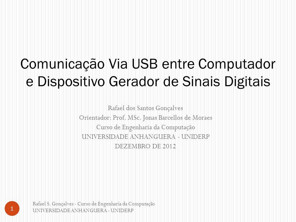 Comunicação Via USB entre Computador e Dispositivo Gerador de Sinais Digitais
