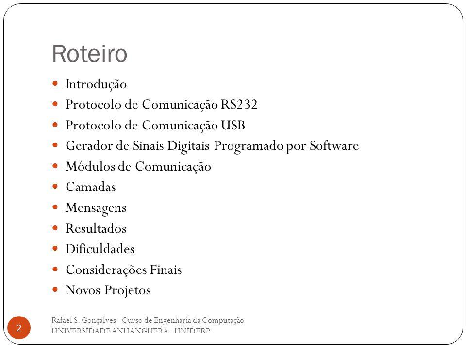 Roteiro Introdução Protocolo de Comunicação RS232