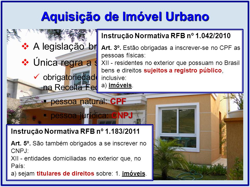 Aquisição de Imóvel Urbano
