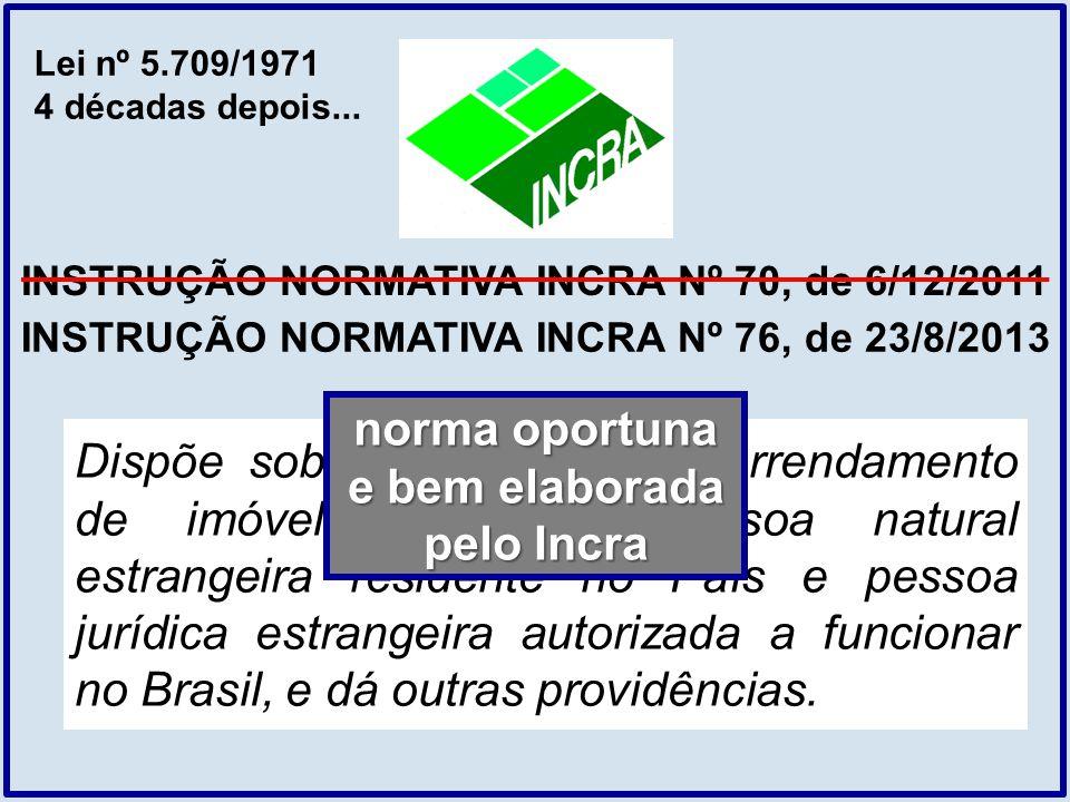 INSTRUÇÃO NORMATIVA INCRA Nº 70, de 6/12/2011