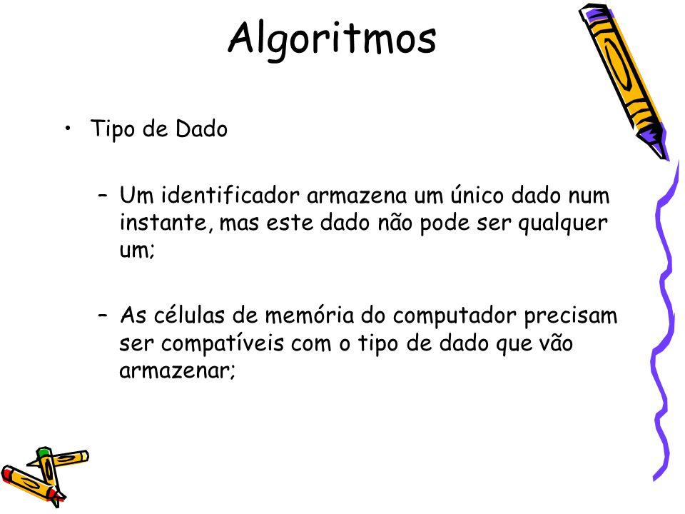 Algoritmos Tipo de Dado