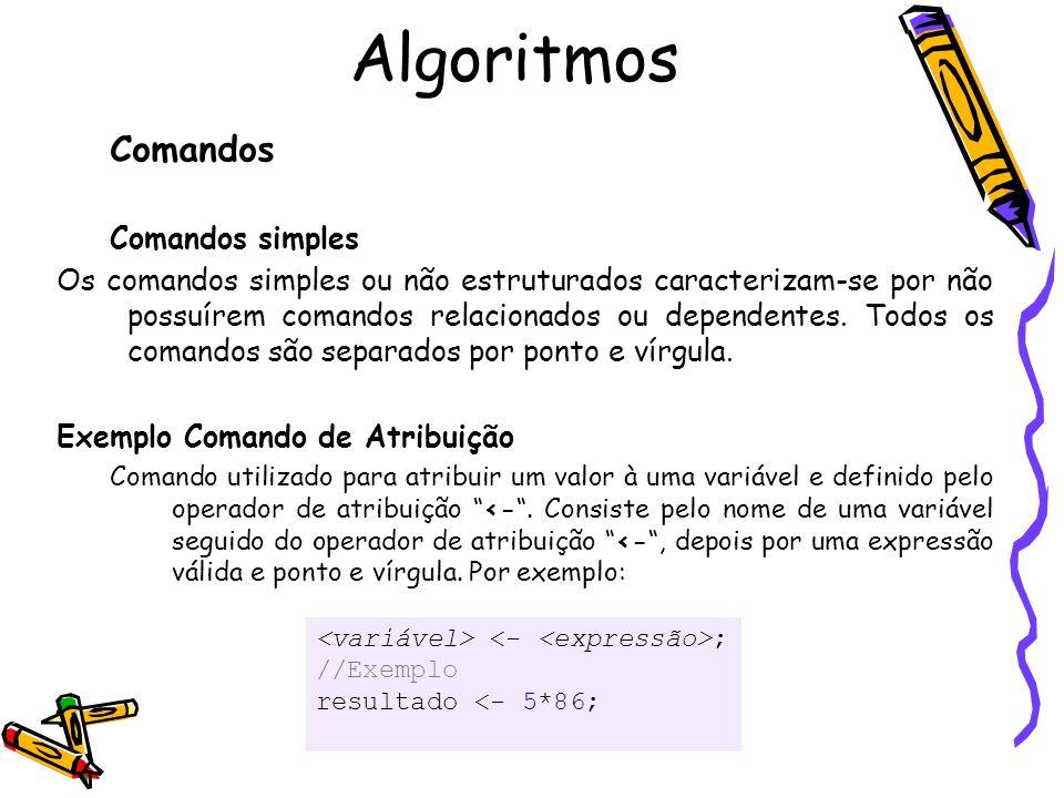 Algoritmos Comandos Comandos simples