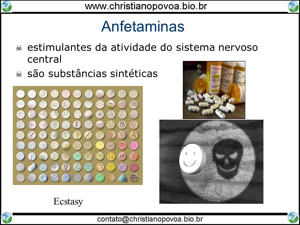 Anfetaminas estimulantes da atividade do sistema nervoso central