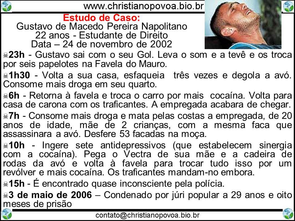 Estudo de Caso: Gustavo de Macedo Pereira Napolitano 22 anos - Estudante de Direito Data – 24 de novembro de 2002
