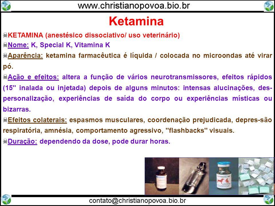 Ketamina KETAMINA (anestésico dissociativo/ uso veterinário)