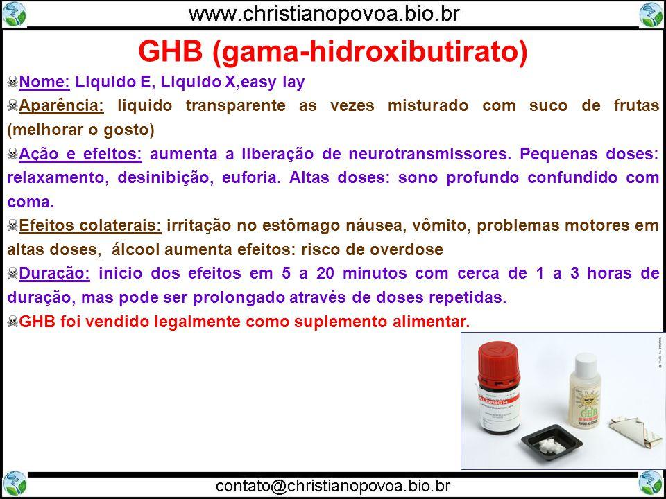 GHB (gama-hidroxibutirato)