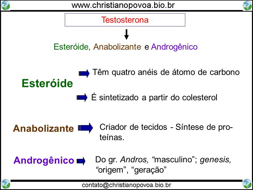 Esteróide, Anabolizante e Androgênico