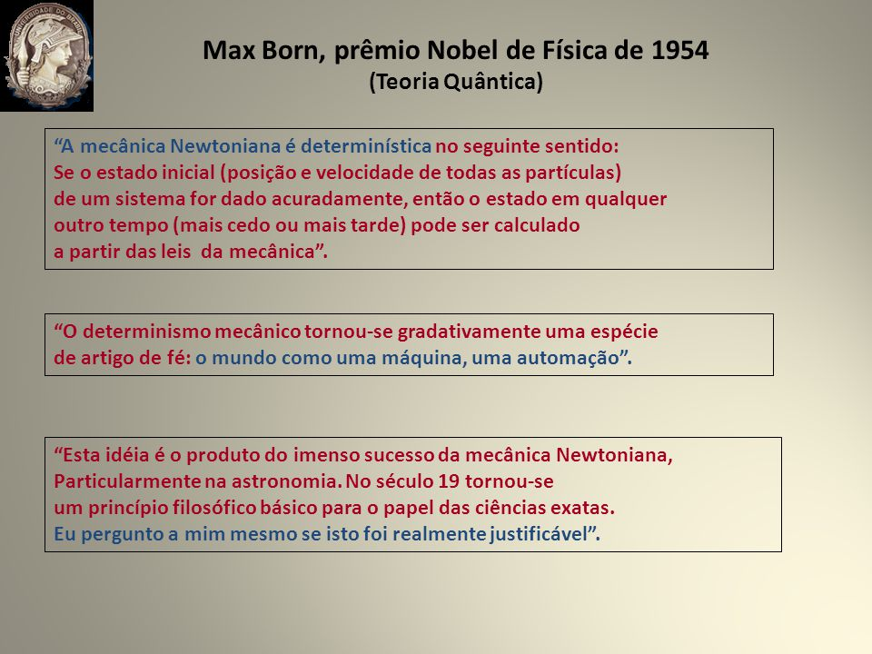 Max Born, prêmio Nobel de Física de 1954
