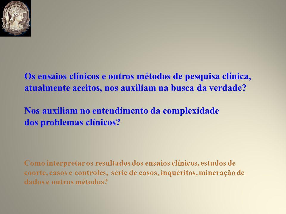 Os ensaios clínicos e outros métodos de pesquisa clínica,
