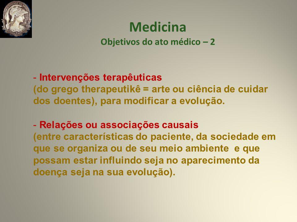 Objetivos do ato médico – 2