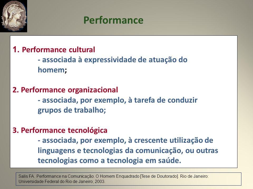 Performance Performance cultural