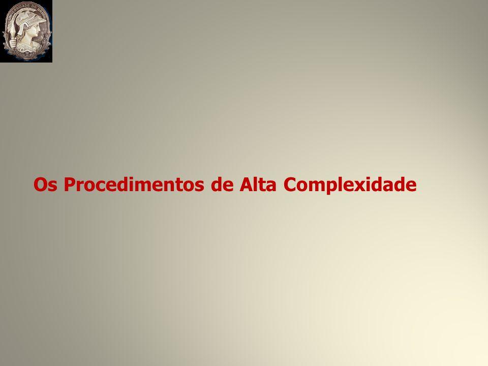 Os Procedimentos de Alta Complexidade