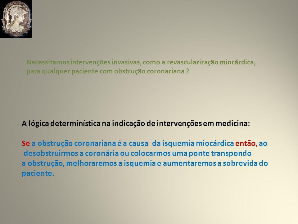 A lógica determinística na indicação de intervenções em medicina: