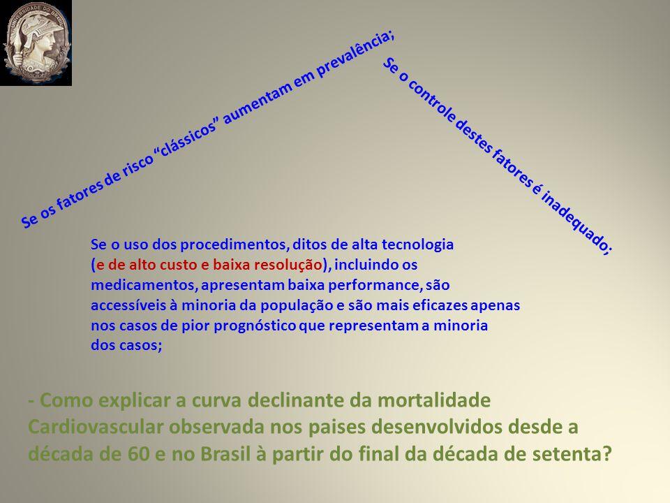 - Como explicar a curva declinante da mortalidade