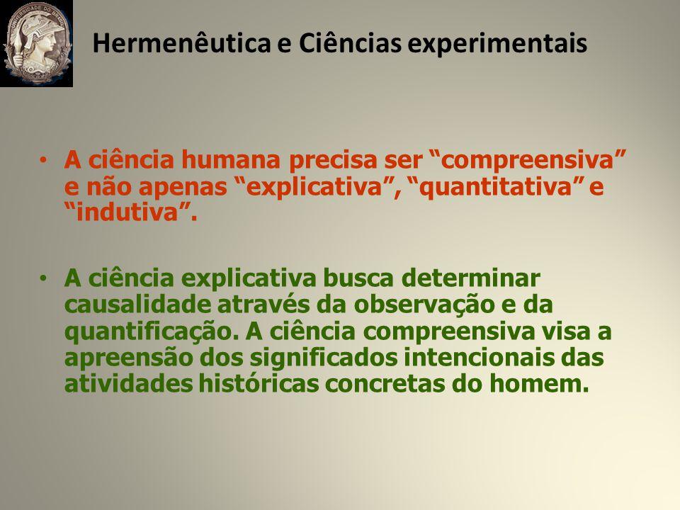 Hermenêutica e Ciências experimentais