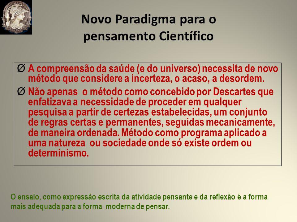 Novo Paradigma para o pensamento Científico