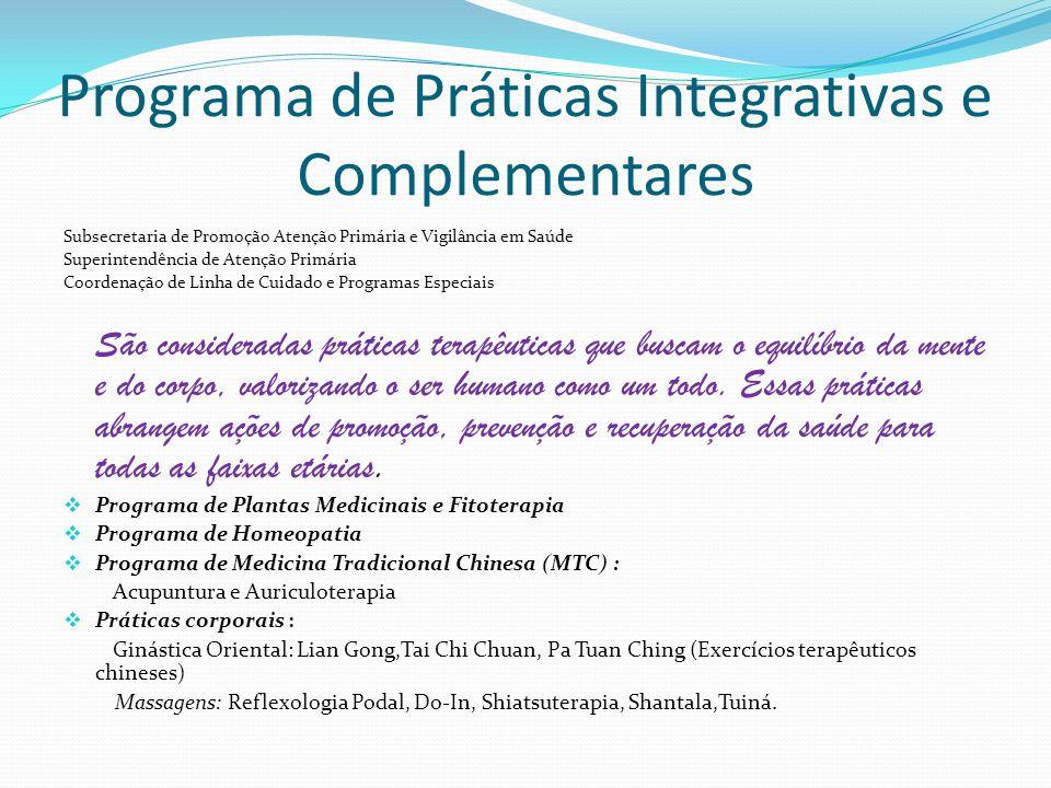 Programa de Práticas Integrativas e Complementares