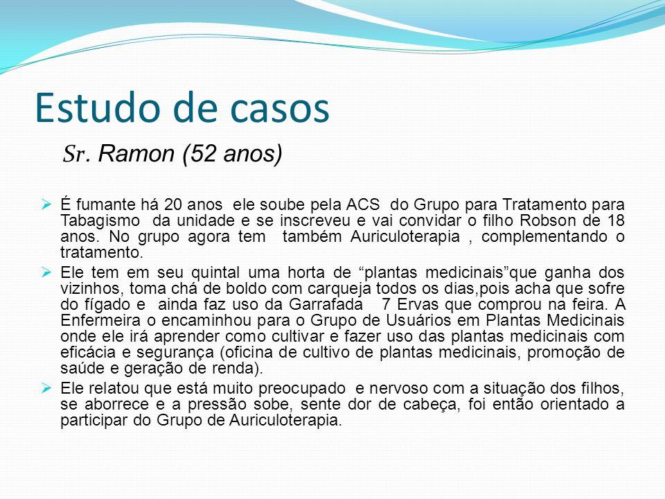 Estudo de casos Sr. Ramon (52 anos)