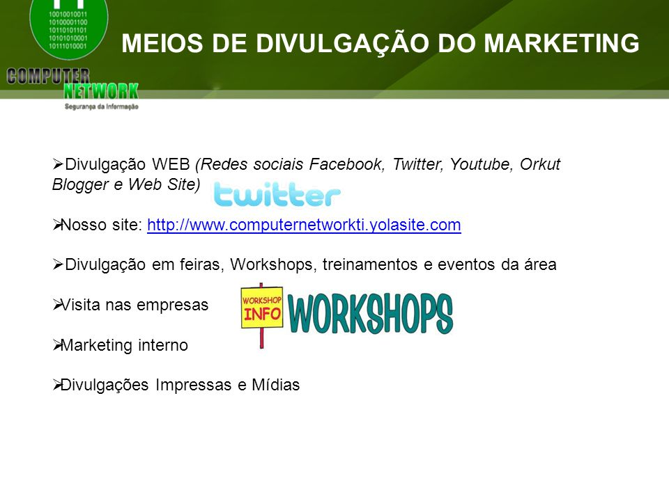 Meios de divulgação do Marketing