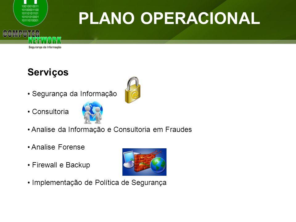 PLANO OPERACIONAL Serviços Segurança da Informação Consultoria